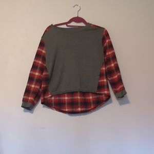 Other - GIRLS Long sleeve flannel top